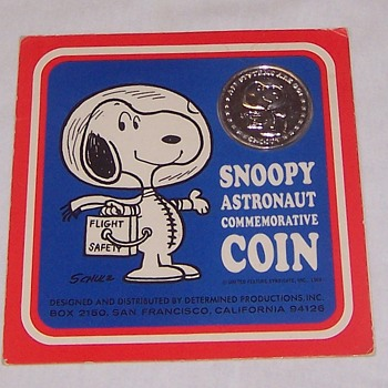 Snoopy Sterling Silver Commemorative Medallion - Advertising