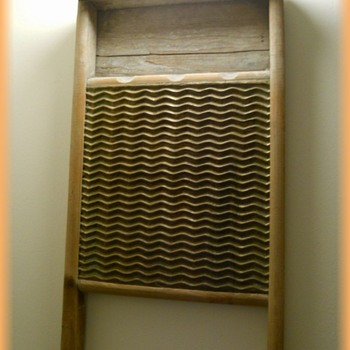 Vintage Metal and Wood ( Scrub ) Washboard  - CANADIAN WOODENWARE COMPANY