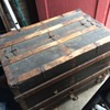 Straight backed steamer trunk