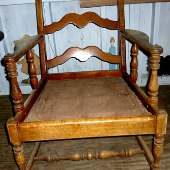 Ladder Back Arm Chair #2