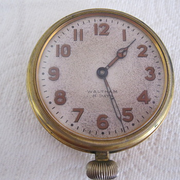 Waltham 8 day Pocket Watch- open faced, 22546645, back cover screws off, back cover says Patented Mar1912 - Pocket Watches