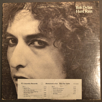 BOB DYLAN - Hard Rain demo - Records