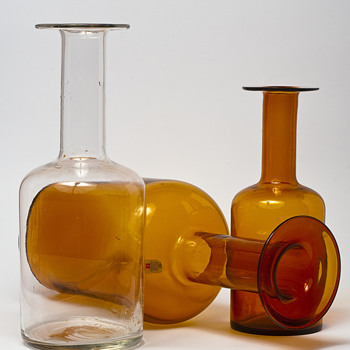 Otto Brauer for Holmegaard - Gulvvase - Art Glass