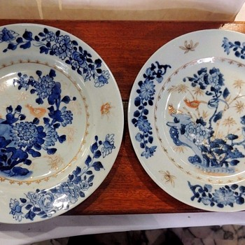 RARE 18 CENTURY CHINESE PORCELAIN PLATES