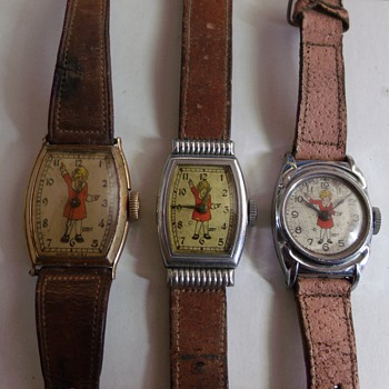"The Comparison of Different Variants of New Haven ""Ophan Annie"" Wrist Watch"