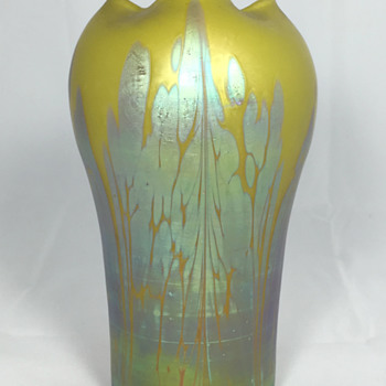 "Loetz ""Metallic-Yellow Medici"" Vase - Circa 1902. 6.75"" tall PN unknown - Art Glass"