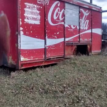 Classic coca cola trailer