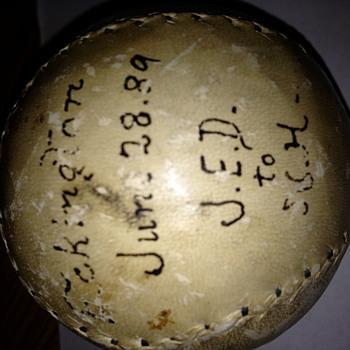1889 autographed baseball