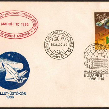 "1986 - ""Halley's Comet"" First Day Cover - Hungary - Stamps"