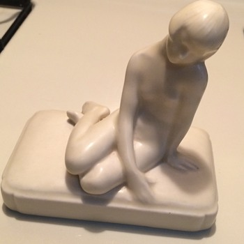 Rookwood Pottery 1927 Art Deco Nude Paperweight