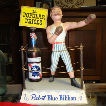 Old Metal Pabst Blue Ribbon Beer Advertising Piece....