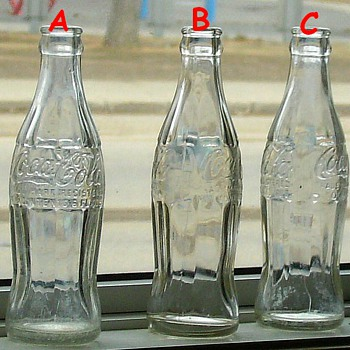 Old Coca Cola Bottles ----- Date//Marks
