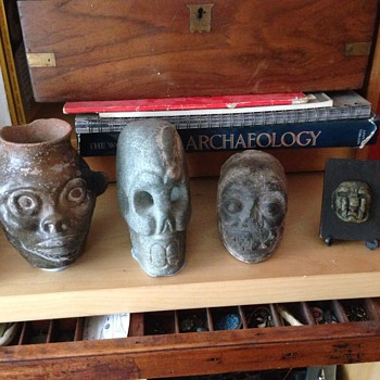 Four Pre-Columbus maya / aztec skulls