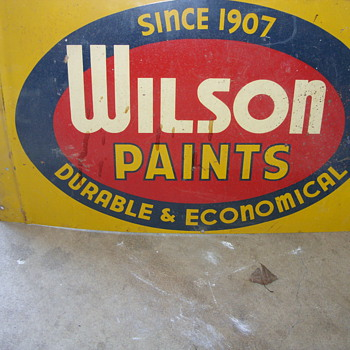 double sided wilson paint sign