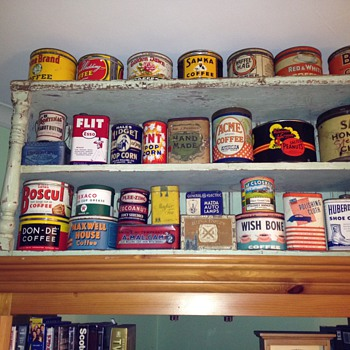 My tin collectin - Advertising