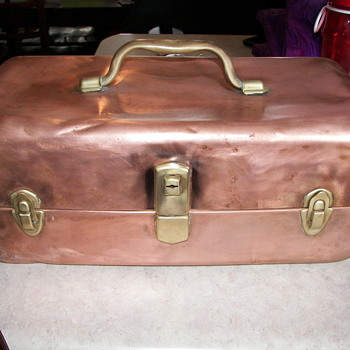 Anitque Copper Tackle Box - Fishing