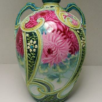 My Beautiful Japanese Nippon Moriage Vase