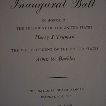Harry s Truman Inaugural Ball  - Paper