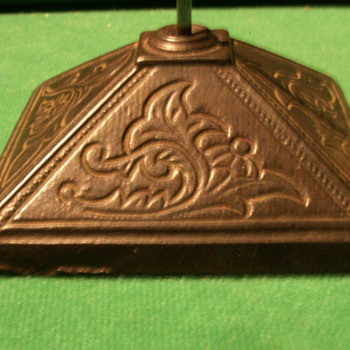 Vintage/Antique Cast Iron Pyramid Receipt Spike