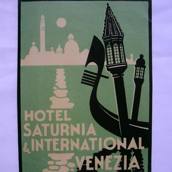 Vintage Hotels Tags or Labels. - Paper