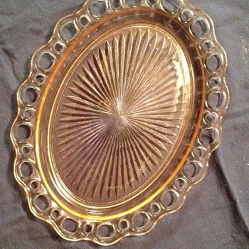 vintage dish - Glassware