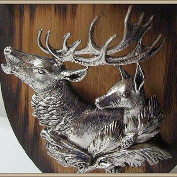 My vintage DEER Head Picture Plaque - Metal - Visual Art