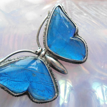 Beautiful Vintage Flutterby Brooch came France from a CW member as a gift :-)  - Fine Jewelry