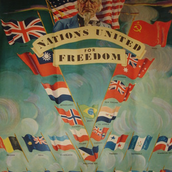 POSTER OF NATION UNITED FOR FREEDOM - Posters and Prints