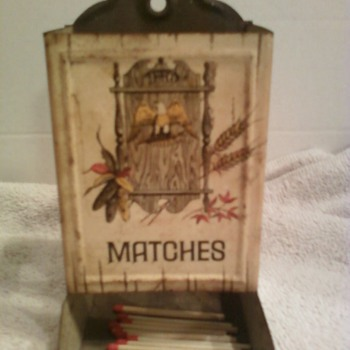 Metal Match Box Holder! - Tobacciana