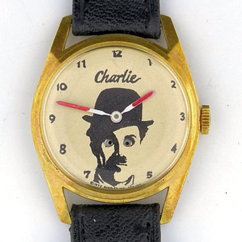 1975 Charlie Chaplin w/ Moving Eyes watch - Wristwatches