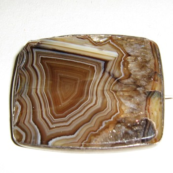 Agate pin/pendant? set in sterling - Fine Jewelry