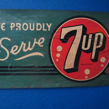 We Proudly Serve 7Up sign - Signs