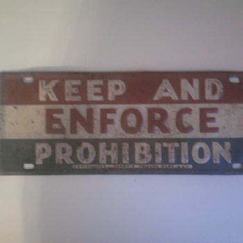 Prohibition Lisence Plate?