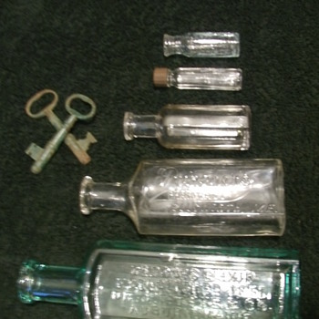 Metal Detecting...Found a old key...then bottles... - Bottles
