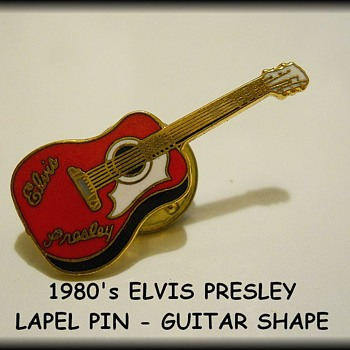 1980's Vintage LAPEL PINS ( Guitar Shape )  - Medals Pins and Badges