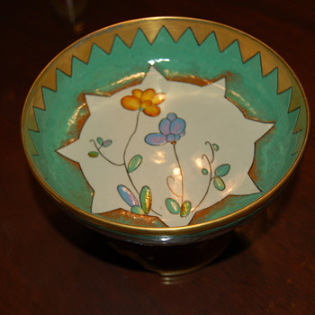French? Footed compote  - Art Pottery