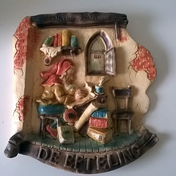 Souvenir Wall Plaque From The Efteling Fantasy Park Netherlands > See Update Below... - Art Pottery