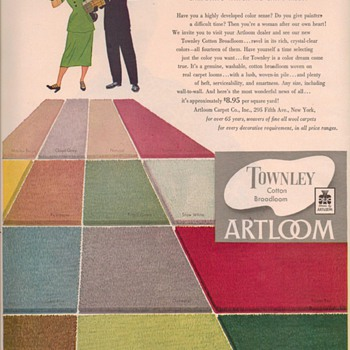 1950 Townley Carpet Advertisement