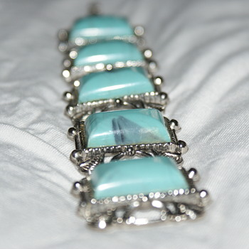 Thermoset Turquoise Plastic Vintage Bracelet
