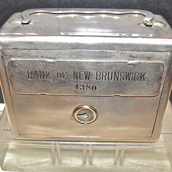 The Bank of New-Brunswick, Advertising promotional Steel Bank - Advertising