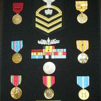 My Dad&#039;s U.S. Navy Medals in a Shadow Box