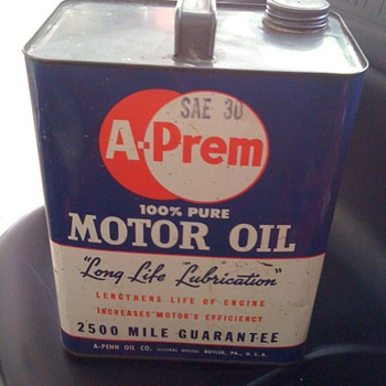A-Prem 2 gallon oil can