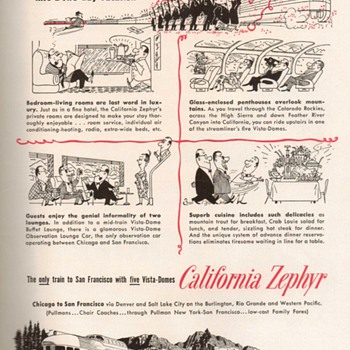 1955 - Westren Pacific Railroad Advertisement - Advertising