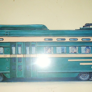 "2nd Trolley San Francisco print  ""The Green Torpedo"""