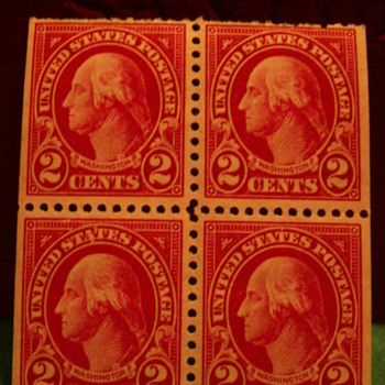 1922 United States Postage Washington 2 Cents Stamps