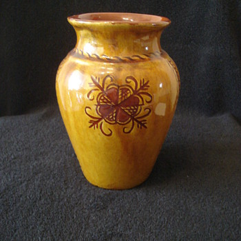 Decorated Collectible Vase/Mystery - Art Pottery
