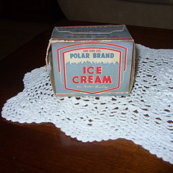 50s 1 pint polar brand ice cream - Advertising