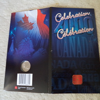 2000 Canada Day Coloured 25 Cents (Celebration)