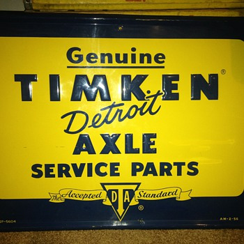 Timken Detroit Axle parts sign - Advertising
