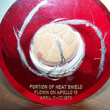 Apollo 13 heat sheild numbered 9 of 15 - Military and Wartime